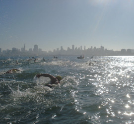 New years day Alcatraz swim