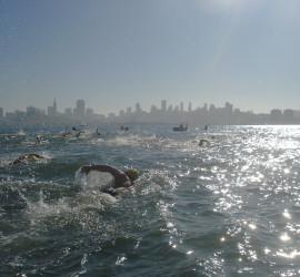 New years day Alcatraz swim